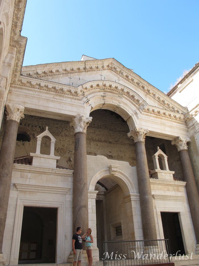The vestibule in Diocletian's Palace was our favourite spot in Split's old town.
