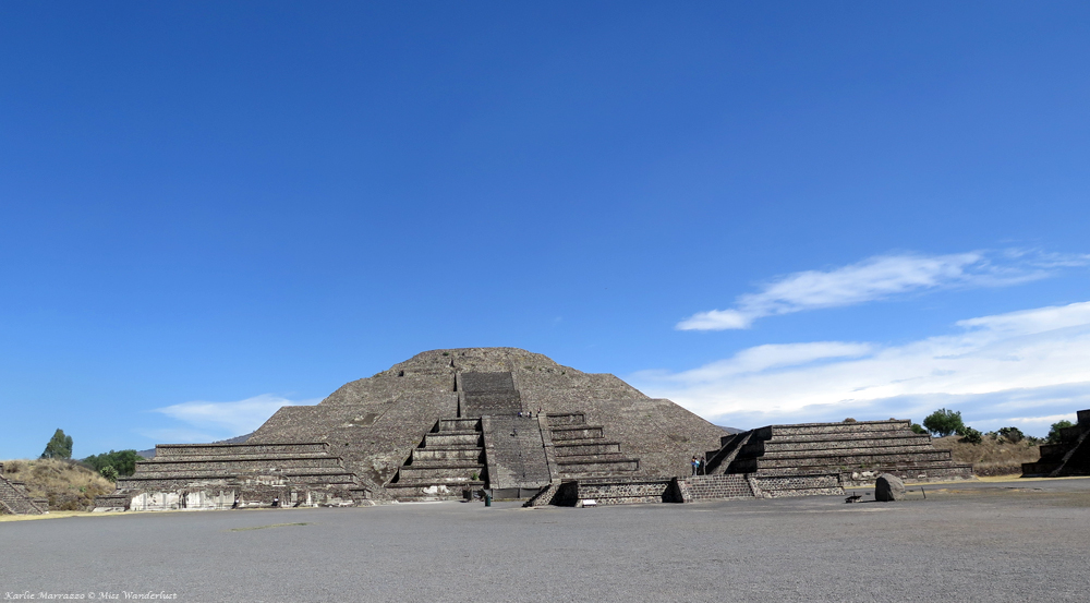 The Pyramid of the Moon at the Teotihuacan archaeological site.