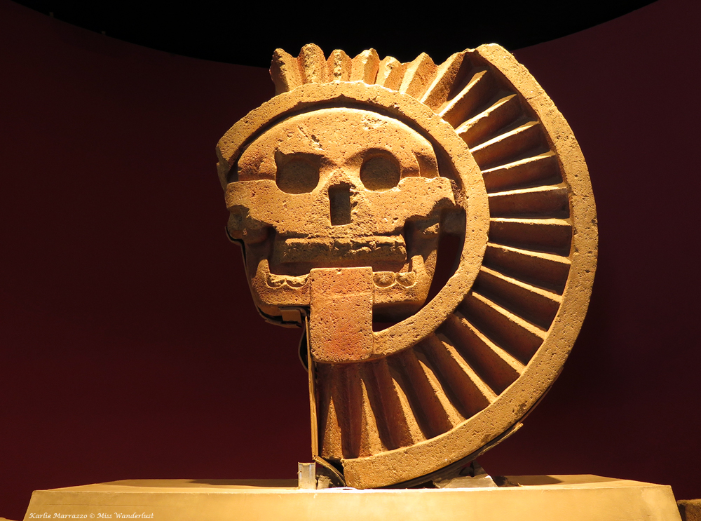 Disc of Death sculpture, an artifact from Teotihucan in Mexico