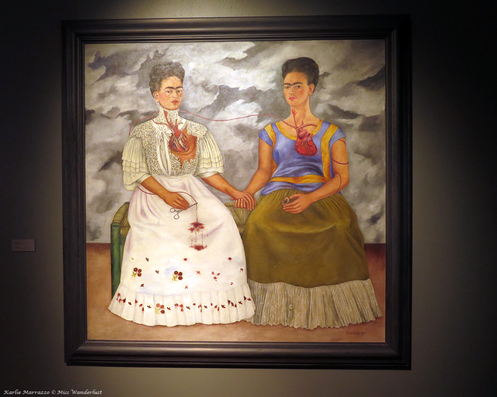 The painting The Two Fridas by Mexican painter Frida Kahlo
