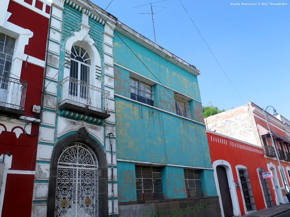 Colourful buildings in Puebla's historic centre.
