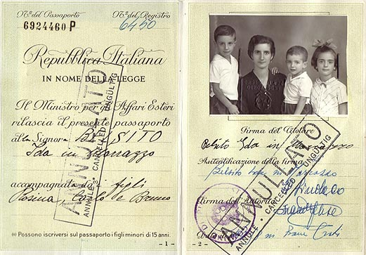 An Italian passport from the 1950s.