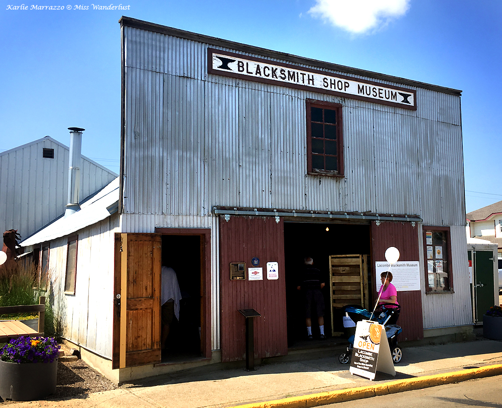 A turn of the century blacksmith shop in Lacombe, Alberta